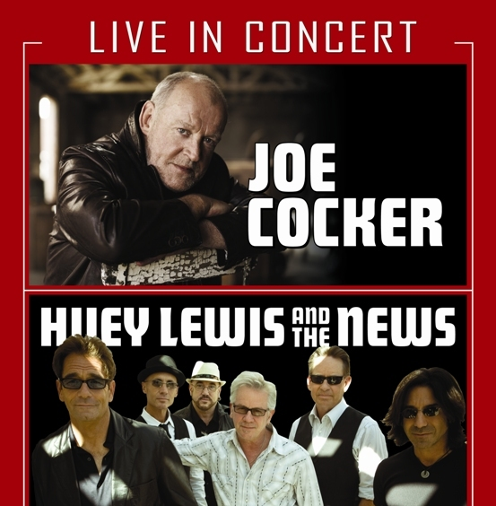 Huey Lewis and The News and Joe Cocker Bank of America Pavilion