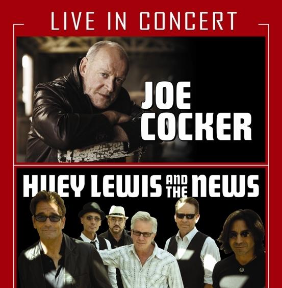 Huey Lewis and The News and Joe Cocker Bank of America Pavilion