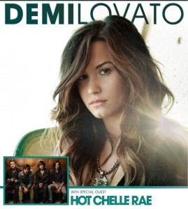 Demi Lovato and Hot Chelle Rae Bank of America Pavillion